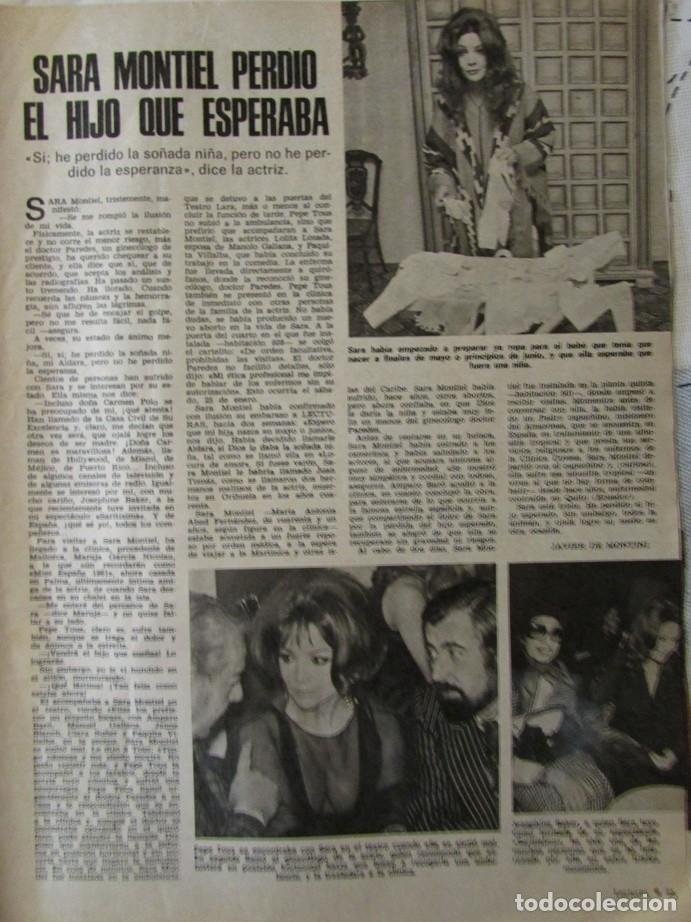 RECORTE REVISTA LECTURAS Nº 1190 1975 SARA MONTIEL (Coleccionismo - Revistas y Periódicos Modernos (a partir de 1.940) - Revista Lecturas)