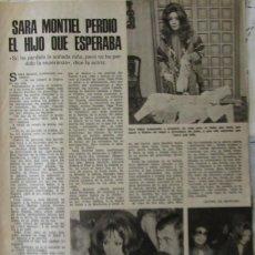 Coleccionismo de Revistas: RECORTE REVISTA LECTURAS Nº 1190 1975 SARA MONTIEL. Lote 158022462