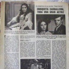 Coleccionismo de Revistas: RECORTE REVISTA LECTURAS Nº 1270 1976 ENRIQUETA CARVALLEIRA, AGATA LYS, . Lote 158262190
