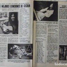 Coleccionismo de Revistas: RECORTE REVISTA LECTURAS Nº 1270 1976 CECILIA. . Lote 158263122