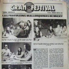 Coleccionismo de Revistas: RECORTE REVISTA LECTURAS Nº 1270 1976 MICKY, FRAEULEIN, . Lote 158263222