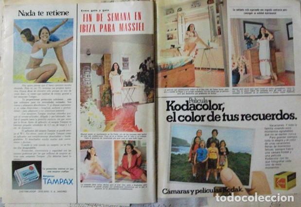 RECORTE REVISTA LECTURAS Nº 1270 1976 MASSIEL (Coleccionismo - Revistas y Periódicos Modernos (a partir de 1.940) - Revista Lecturas)