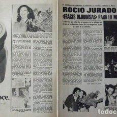 Coleccionismo de Revistas: RECORTE REVISTA LECTURAS Nº 1250 1976 ROCIO JURADO. PORTADA Y 2 PGS. Lote 158264598