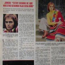 Coleccionismo de Revistas: RECORTE REVISTA LECTURAS Nº 1140 1974 JUNIOR. Lote 158352586
