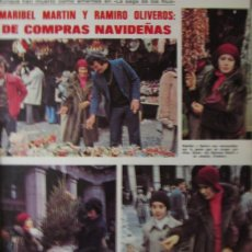 Colecionismo de Revistas: RECORTE REVISTA LECTURAS Nº 1288 1976 MARIBEL MARTIN Y RAMIRO OLIVEROS. 2 PGS. Lote 158499182