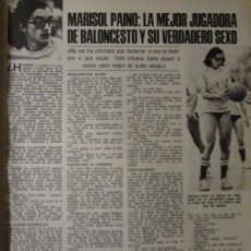 Coleccionismo de Revistas: RECORTE REVISTA LECTURAS Nº 1288 1976 MARISOL PAINO. Lote 158499386