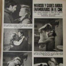 Coleccionismo de Revistas: RECORTE REVISTA LECTURAS Nº 1288 1976 MARISOL Y ANTONIO GADES. Lote 158499882