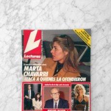 Coleccionismo de Revistas: LECTURAS - 1989 - MARTA CHAVARRI, MARTA SANCHEZ, PAOLO FUTRE, EL SORO, SARA MONTIEL, MECANO, STING. Lote 159253350