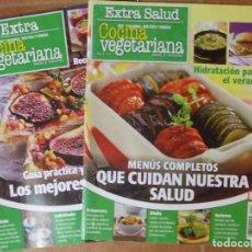 Coleccionismo de Revistas: 2 REVISTAS EXTRA SALUD DE COCINA VEGETARIANA SANA Y NATURAL MENUS, RECETAS Y CONSEJOS 98X2P 2X200G. Lote 159724190