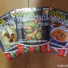 Coleccionismo de Revistas: 3 REVISTAS DE COCINA VEGETARIANA SANA Y NATURAL CON MÁS DE 275 RECETAS Y CONSEJOS 3X98P 3X200G. Lote 159724274