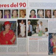 Coleccionismo de Revistas: RECORTE REVISTA LECTURAS Nº 2021 1990 ISABEL PANTOJA, MARTA SANCHEZ, KOPLOWITZ, ROCIO JURADO.... Lote 160069322
