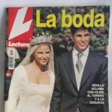 Coleccionismo de Revistas: REVISTA LECTURAS EDICION ESPECIAL BODA FRANCISCO Y EUGENIA 06/11/98. Lote 160243453
