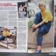 Magazine Collection - RECORTE REVISTA LECTURAS Nº 1793 1986 AMPARO LARRAÑAGA 2 PGS - 160455210