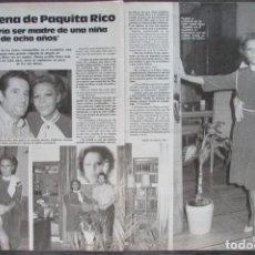 Magazine Collection - RECORTE REVISTA LECTURAS Nº 1793 1986 PAQUITA RICO 3 PGS - 160455614
