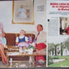 Magazine Collection - RECORTE REVISTA LECTURAS Nº 1793 1986 MARIA LUISA DE PRUSIA 5 PGS - 160455702