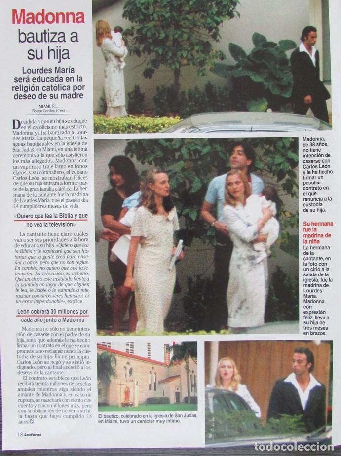 RECORTE REVISTA LECTURAS Nº 2338 1997 MADONNA (Coleccionismo - Revistas y Periódicos Modernos (a partir de 1.940) - Revista Lecturas)