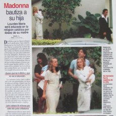 Magazine Collection - RECORTE REVISTA LECTURAS Nº 2338 1997 MADONNA - 160460710