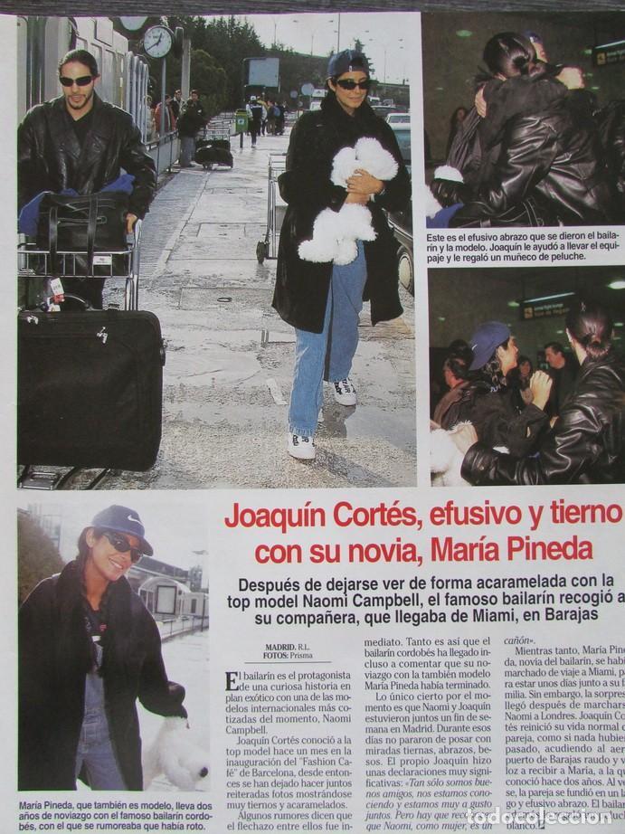 RECORTE REVISTA LECTURAS Nº 2338 1997 JOAQUIN CORTES, MARIA PINEDA (Coleccionismo - Revistas y Periódicos Modernos (a partir de 1.940) - Revista Lecturas)