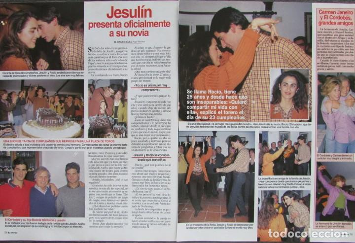 Coleccionismo de Revistas: RECORTE REVISTA LECTURAS Nº 2338 1997 JOAQUIN CORTES, MARIA PINEDA - Foto 2 - 160461114