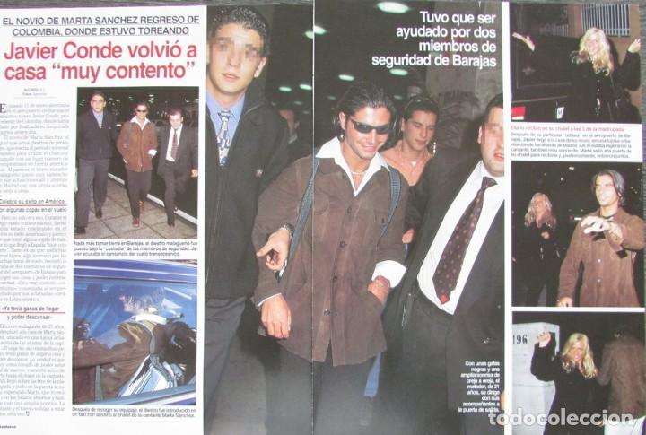 RECORTE REVISTA LECTURAS Nº 2338 1997 JAVIER CONDE, MARTA SANCHEZ (Coleccionismo - Revistas y Periódicos Modernos (a partir de 1.940) - Revista Lecturas)