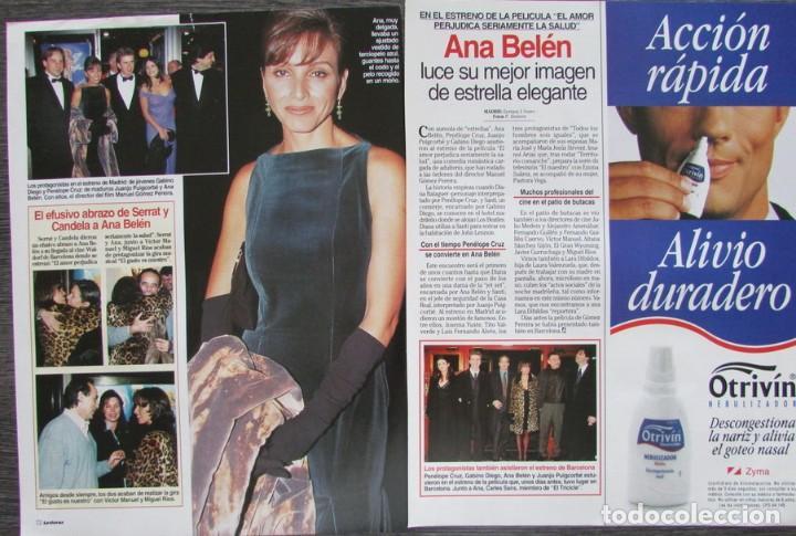 RECORTE REVISTA LECTURAS Nº 2338 1997 ANA BELEN (Coleccionismo - Revistas y Periódicos Modernos (a partir de 1.940) - Revista Lecturas)