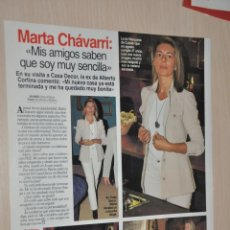Coleccionismo de Revistas: HOJA REVISTA LECTURAS 1997, MARTA CHAVARRI. Lote 161271154