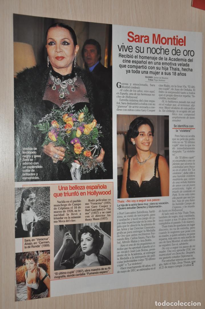 HOJA REVISTA LECTURAS 1997, SARA MONTIEL (Coleccionismo - Revistas y Periódicos Modernos (a partir de 1.940) - Revista Lecturas)