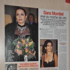 Coleccionismo de Revistas: HOJA REVISTA LECTURAS 1997, SARA MONTIEL. Lote 161271542