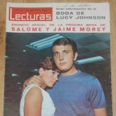 Coleccionismo de Revistas: LECTURAS #747 1966 SALOME JAIME MOREY DALI LUIS AGUILE GLORIA CAMARA GRACE MONACO. Lote 161546162