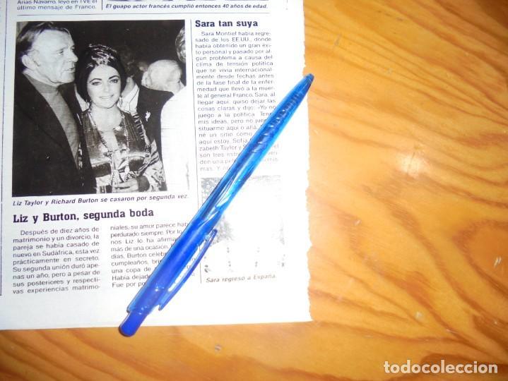 RECORTE : SARA MONTIEL : SARA TAN SUYA. LECTURAS, NVBRE 1985 () (Coleccionismo - Revistas y Periódicos Modernos (a partir de 1.940) - Revista Lecturas)