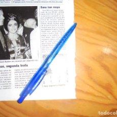 Coleccionismo de Revistas: RECORTE : SARA MONTIEL : SARA TAN SUYA. LECTURAS, NVBRE 1985 (). Lote 161559910