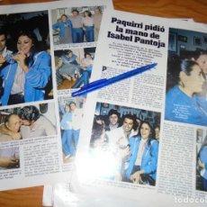 Coleccionismo de Revistas: RECORTE : PAQUIRRI PIDIO LA MANO DE ISABEL PANTOJA. LECTURAS, MARZO 1983 (). Lote 161567458
