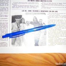Colecionismo de Revistas: RECORTE : LOS DEL BALLET ZOOM, SE REENCUENTRAN CON DON LURIO. LECTURAS, NVBRE 1981 (). Lote 162162690