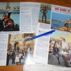 Coleccionismo de Revistas: RECORTE : JULIO IGLESIAS EN VENECIA. LECTURAS, NVBRE 1979 (). Lote 162557374