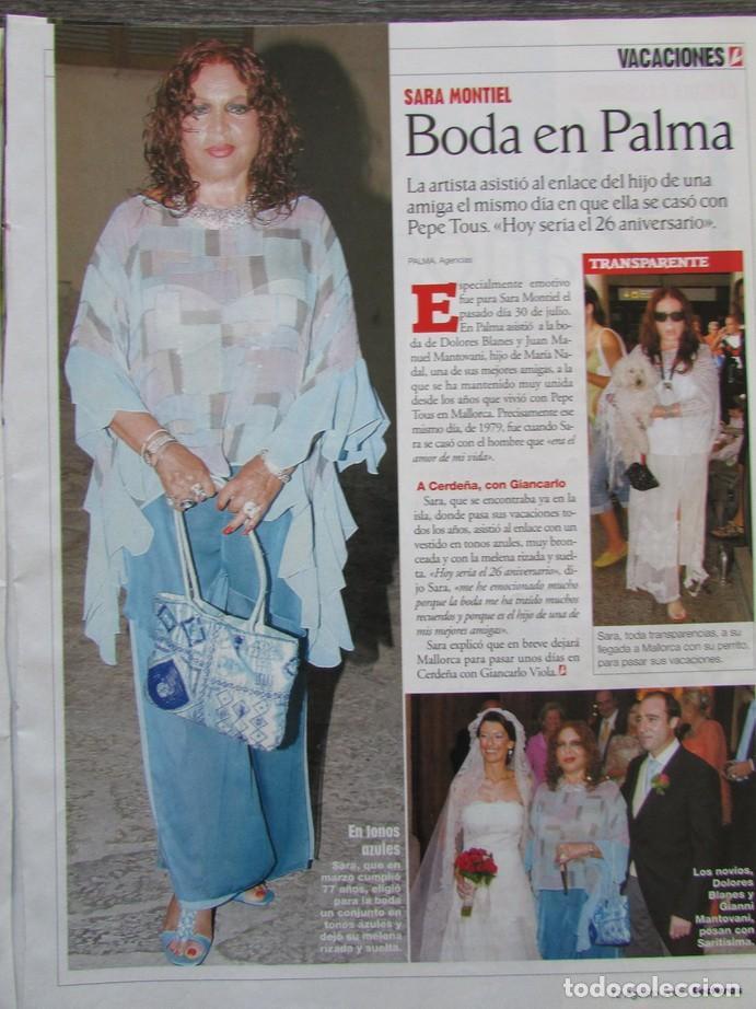 RECORTE LECTURAS Nº 2785 2005 SARA MONTIEL (Coleccionismo - Revistas y Periódicos Modernos (a partir de 1.940) - Revista Lecturas)