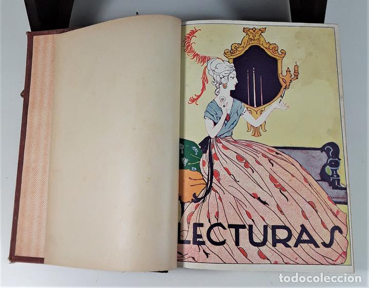 LECTURAS. SUPLEMENTO LITERARIO. BARCELONA. 6 EJEMP. EN I VOLUMEN. SIGLO XX. (Coleccionismo - Revistas y Periódicos Modernos (a partir de 1.940) - Revista Lecturas)