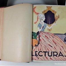 Coleccionismo de Revistas: LECTURAS. SUPLEMENTO LITERARIO. BARCELONA. 6 EJEMP. EN I VOLUMEN. SIGLO XX.. Lote 165182322