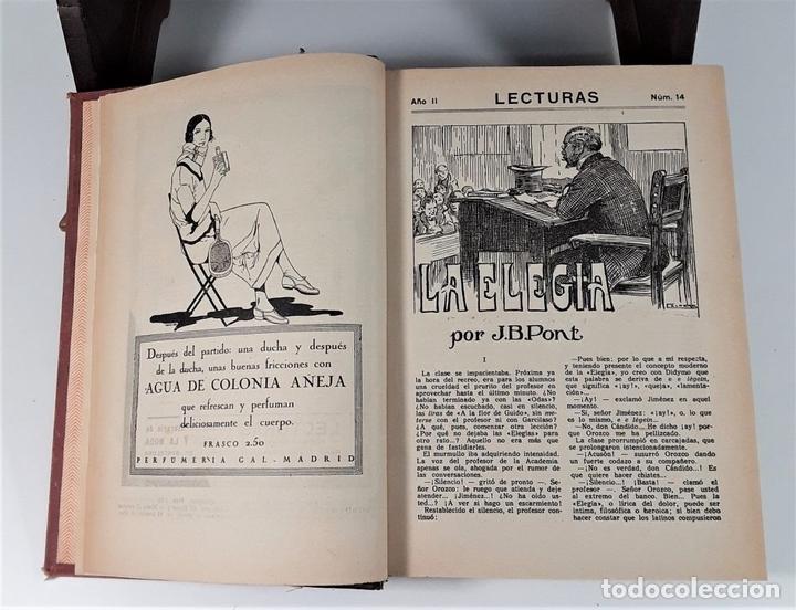 Coleccionismo de Revistas: LECTURAS. SUPLEMENTO LITERARIO. BARCELONA. 6 EJEMP. EN I VOLUMEN. SIGLO XX. - Foto 5 - 165182322