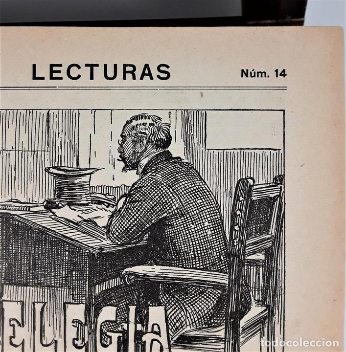 Coleccionismo de Revistas: LECTURAS. SUPLEMENTO LITERARIO. BARCELONA. 6 EJEMP. EN I VOLUMEN. SIGLO XX. - Foto 6 - 165182322