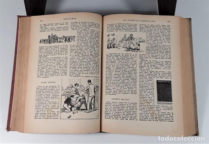 Coleccionismo de Revistas: LECTURAS. SUPLEMENTO LITERARIO. BARCELONA. 6 EJEMP. EN I VOLUMEN. SIGLO XX. - Foto 7 - 165182322