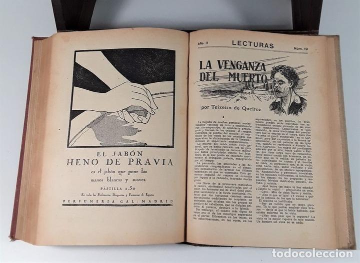 Coleccionismo de Revistas: LECTURAS. SUPLEMENTO LITERARIO. BARCELONA. 6 EJEMP. EN I VOLUMEN. SIGLO XX. - Foto 8 - 165182322