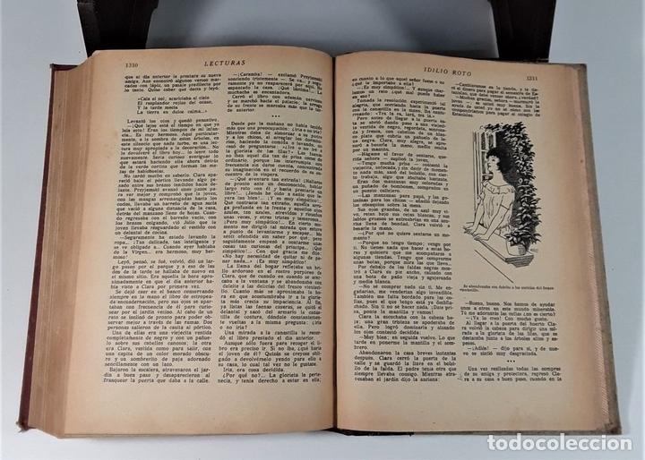 Coleccionismo de Revistas: LECTURAS. SUPLEMENTO LITERARIO. BARCELONA. 6 EJEMP. EN I VOLUMEN. SIGLO XX. - Foto 9 - 165182322