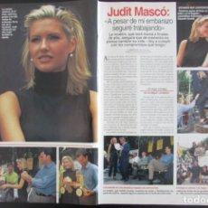 Coleccionismo de Revistas: RECORTE REVISTA LECTURAS Nº 2357 1997 JUDITH MASCÓ 3 PGS. Lote 165633598