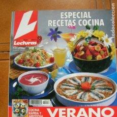 Coleccionismo de Revistas: REVISTA LECTURAS N,18 ESPECIAL RECETAS COCINA. Lote 166903172