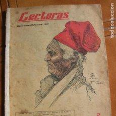 Coleccionismo de Revistas: REVISTA LECTURAS NOVIEMBRE DICIEMBRE DE 1937 ILUSTRADA. Lote 167243664