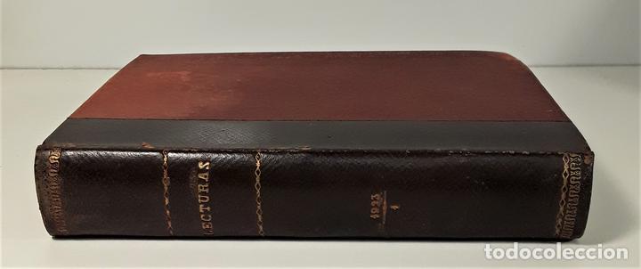 REVISTA MENSUAL. LECTURAS. AÑO III. 6 EJEMPLARES EN I TOMO. BARCELONA. 1923. (Coleccionismo - Revistas y Periódicos Modernos (a partir de 1.940) - Revista Lecturas)