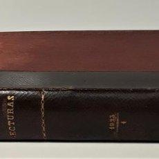 Coleccionismo de Revistas: REVISTA MENSUAL. LECTURAS. AÑO III. 6 EJEMPLARES EN I TOMO. BARCELONA. 1923.. Lote 167390988