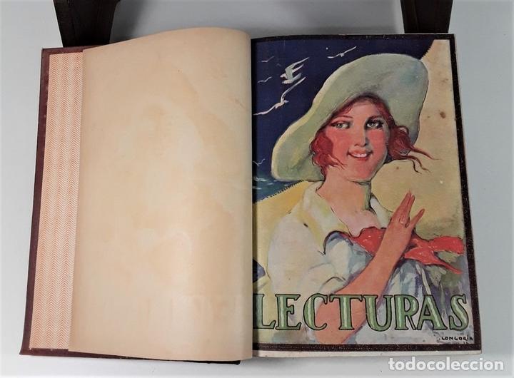Coleccionismo de Revistas: REVISTA MENSUAL. LECTURAS. AÑO III. 6 EJEMPLARES EN I TOMO. BARCELONA. 1923. - Foto 3 - 167390988