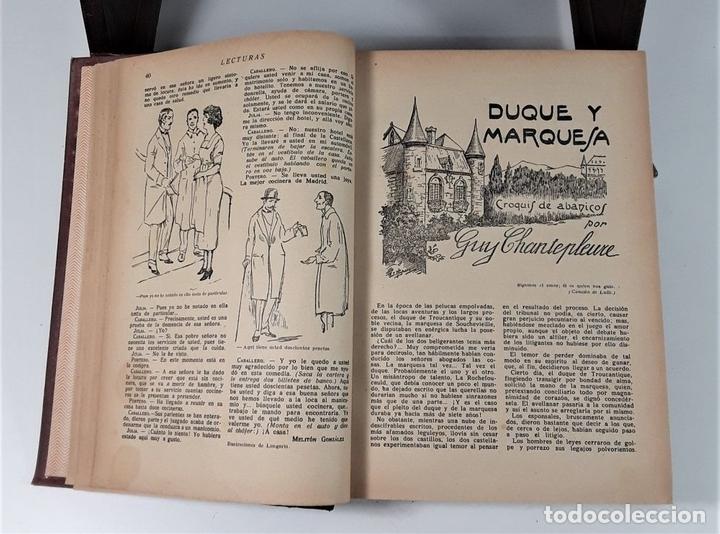 Coleccionismo de Revistas: REVISTA MENSUAL. LECTURAS. AÑO III. 6 EJEMPLARES EN I TOMO. BARCELONA. 1923. - Foto 6 - 167390988