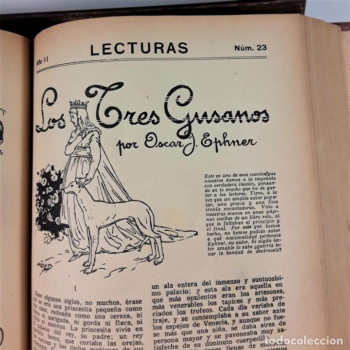 Coleccionismo de Revistas: REVISTA MENSUAL. LECTURAS. AÑO III. 6 EJEMPLARES EN I TOMO. BARCELONA. 1923. - Foto 8 - 167390988